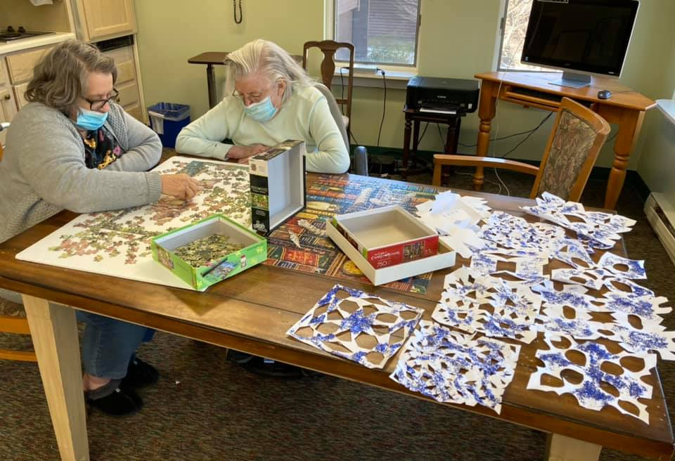 puzzles and snowflakes