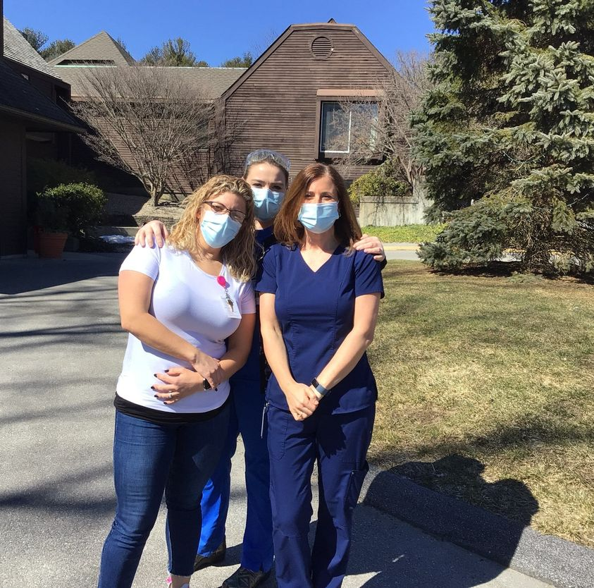 Nurses enjoying the Spring weather